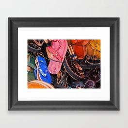 Flip-Flops Framed Art Print