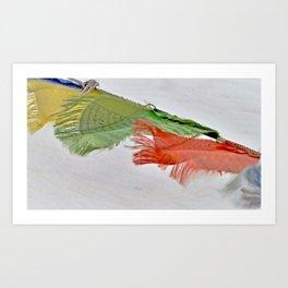 Tibetan Prayer Flags Art Print