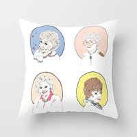 dorothy Throw Pillows featuring Dorothy by Jackie Thomson