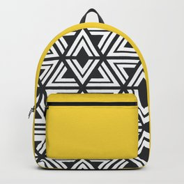 Black, White and Yellow Geo Backpack