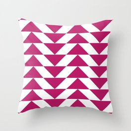 Fuschia Triangle Throw Pillow