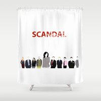 scandal Shower Curtains featuring Scandal Minimalism by Bel17