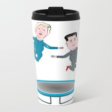 Trump and Kim Jong Un Metal Travel Mug