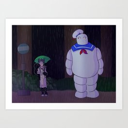 Ghostbusters My Neighbor Stay Puft Art Print