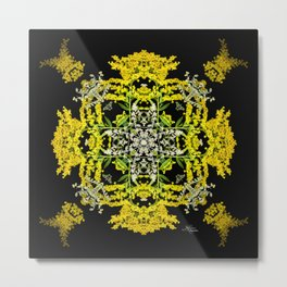 Crowning Goldenrod and Silver king Kaleidoscope Scanography Metal Print