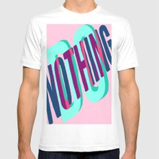 DO NOTHING Mens Fitted Tee MEDIUM White