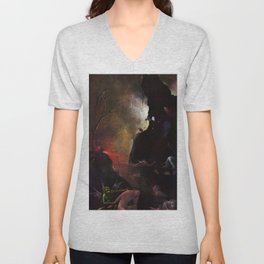 "Hieronymus Bosch ""Visions from the Hereafter - The River to Hell"" Unisex V-Neck"