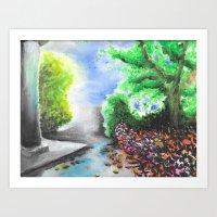 Park - from memory Art Print