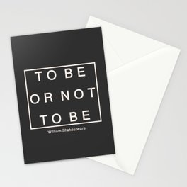 To Be Or Not Stationery Cards