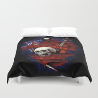 sherlock holmes Duvet Covers featuring Sherlock Holmes by Justyna Dorsz