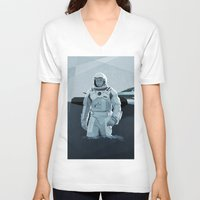 interstellar V-neck T-shirts featuring Interstellar by ANDRESZEN