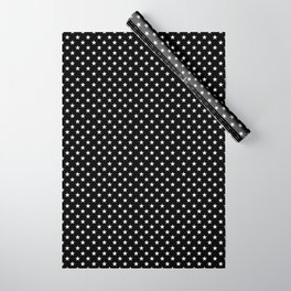 Stars (White/Black) Wrapping Paper