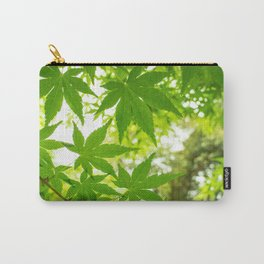 Green leaves of Japanese maple Carry-All Pouch