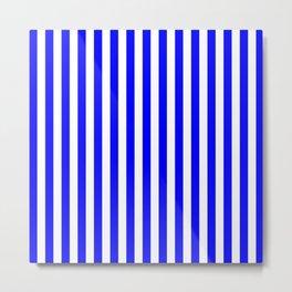 STRIPED DESIGN (BLUE-WHITE) Metal Print