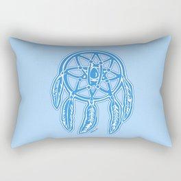 Blue Dreamcatcher Illustration Rectangular Pillow