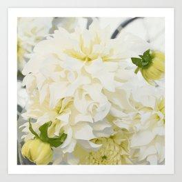 Cream Peonies   Flowers   Flower   Florals   Nadia Bonello   Canada Art Print