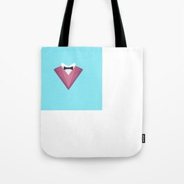Pink Tuxedo Suit with bow tie T-Shirt Dp81h Tote Bag