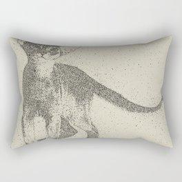 Abyssinian kitten dotted art Rectangular Pillow