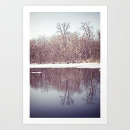 Blue River Art Print