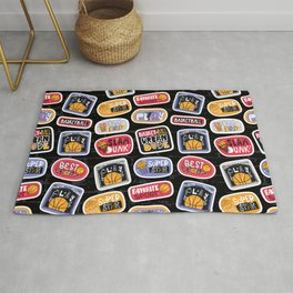 Basketball Pattern with Stickers Rug