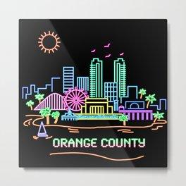 Orange County Metal Print