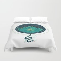 Blue Lotus Duvet Cover