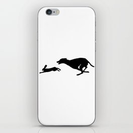 Death Inspires Me Like a Dog Inspires a Rabbit (Black on White) iPhone Skin
