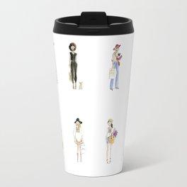 Watercolor Calendar Girls  Travel Mug
