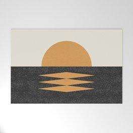 Sunset Geometric Midcentury style Welcome Mat
