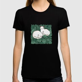Cats in a succulent garden T-shirt