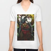 dragon age V-neck T-shirts featuring Dragon Age UNBOUND by IVIDraws