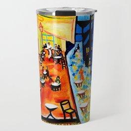 Cafe Terrace - Homage to Van Gogh Travel Mug