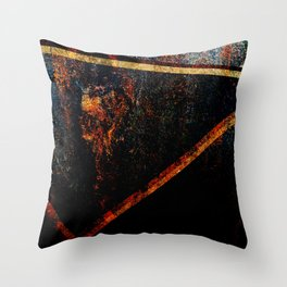Abstract Rusty texture Throw Pillow