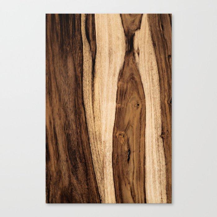 Sheesham Wood Grain Texture, Close Up Leinwanddruck