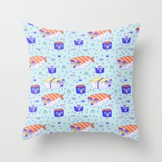 Incognito Sushi Throw Pillow