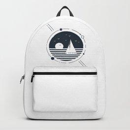 Ship. Sunset. Geometric Style Backpack