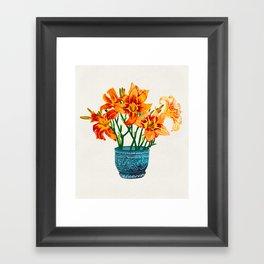 Lily Blossom Framed Art Print