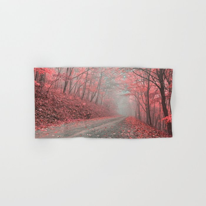 Misty Forest Road - Tickle Me Pink Hand & Bath Towel