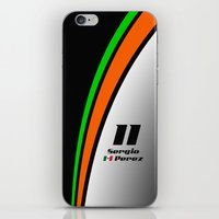 f1 iPhone & iPod Skins featuring F1 2015 - #11 Perez by MS80 Design