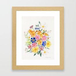 Loose Autumn Bouquet Framed Art Print