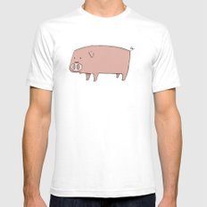 Pig Mens Fitted Tee White SMALL