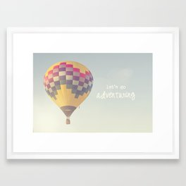 let's go exploring Framed Art Print
