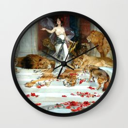 Wright Barker Circe Nyph Goddess Of Magic Witch Enchantress Turn Men Into Animals Wall Clock