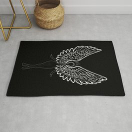 Believe in Angels Black Rug