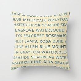 30A Communities (light) Throw Pillow