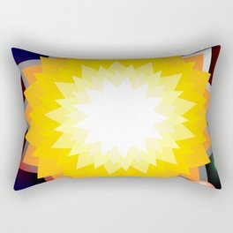 summer sun with planet Rectangular Pillow
