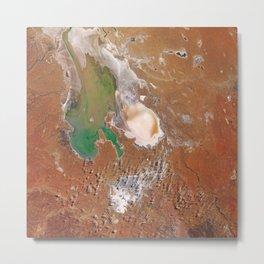 Kati Thanda–Lake Eyre with water Metal Print