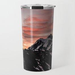 Pink Sky - Cascade Mountains - Nature Photography Travel Mug