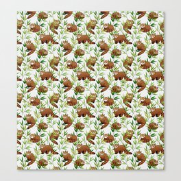 Red Panda Pattern Canvas Print