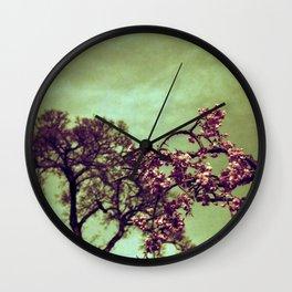 Redscale Blossom Wall Clock